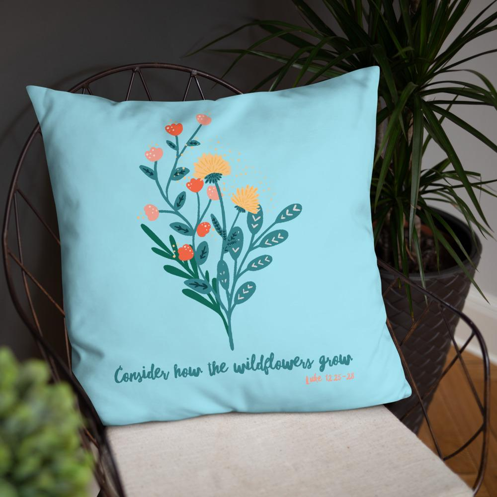 Trini-T - Wildflowers - Blue - Pillow Trini-T Ministries