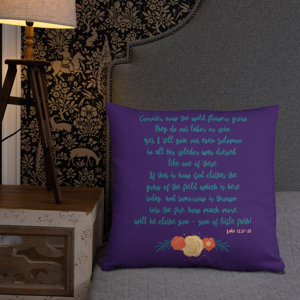 Trini-T Wildflowers - Purple - Pillow Trini-T Ministries