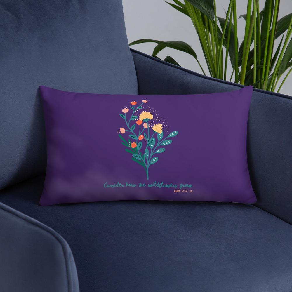 Trini-T Wildflowers - Purple - Pillow Trini-T Ministries 20×12