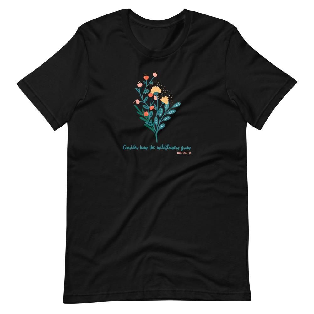 Trini-T - Wildflowers - Women's T T-Shirt Trini-T Ministries Black XS