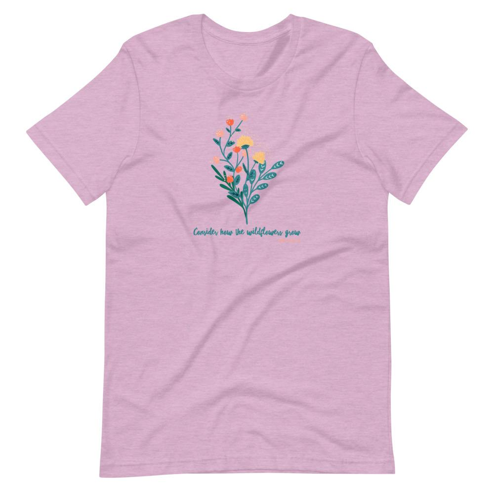 Trini-T - Wildflowers - Women's T T-Shirt Trini-T Ministries Heather Prism Lilac XS