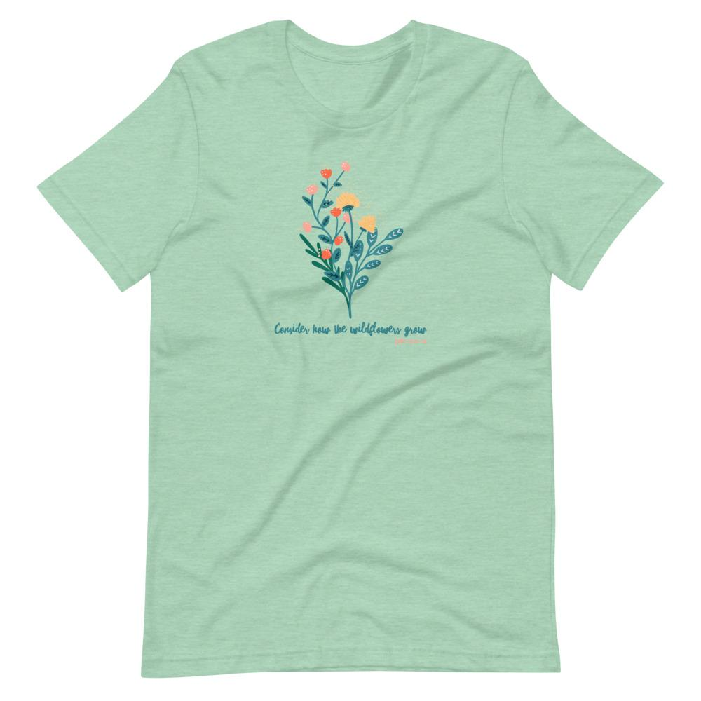 Trini-T - Wildflowers - Women's T T-Shirt Trini-T Ministries Heather Prism Mint XS