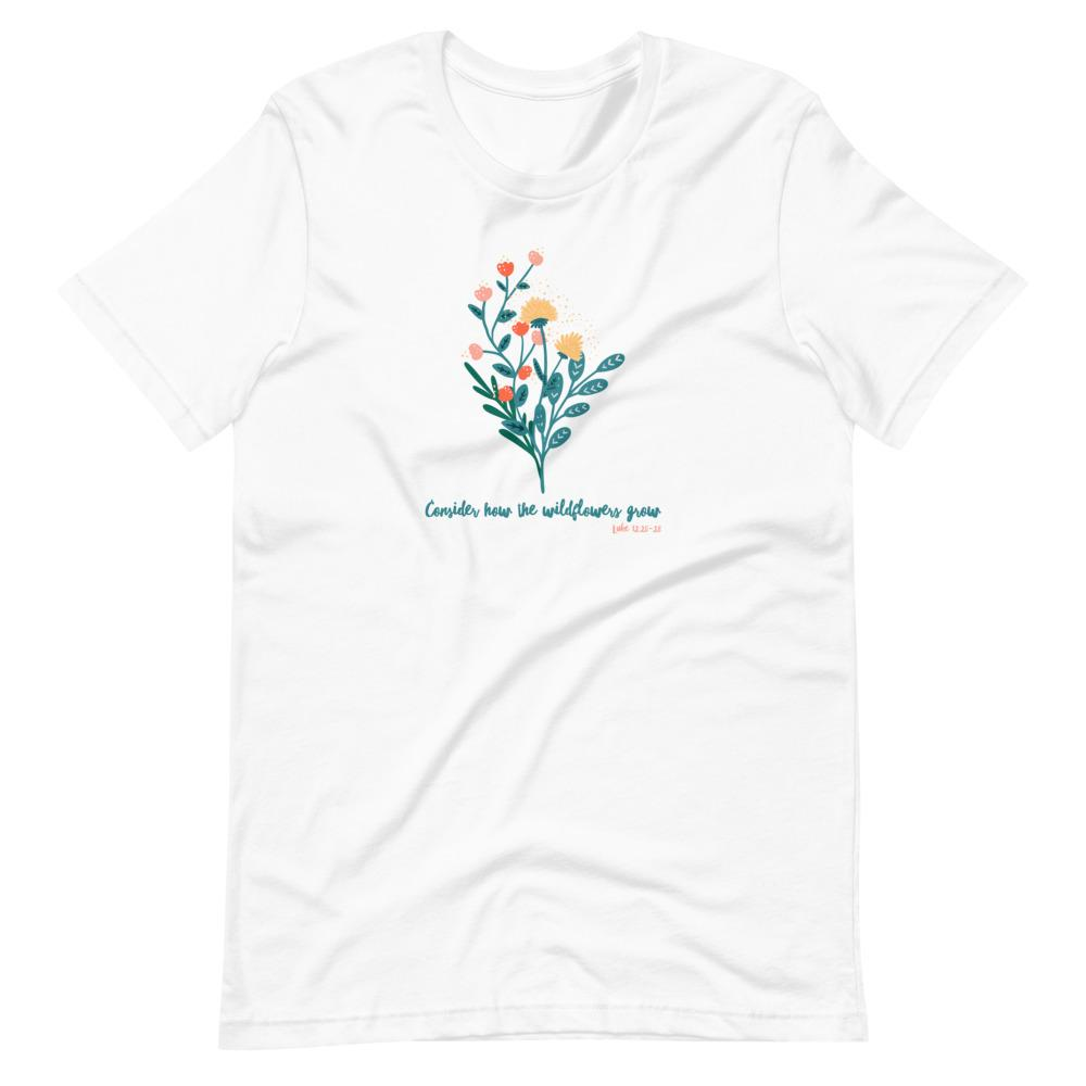 Trini-T - Wildflowers - Women's T T-Shirt Trini-T Ministries White XS