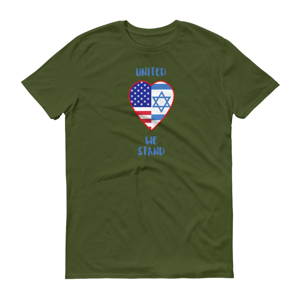 United We Stand - Israel + USA - Men's T Trini-T Ministry City Green S