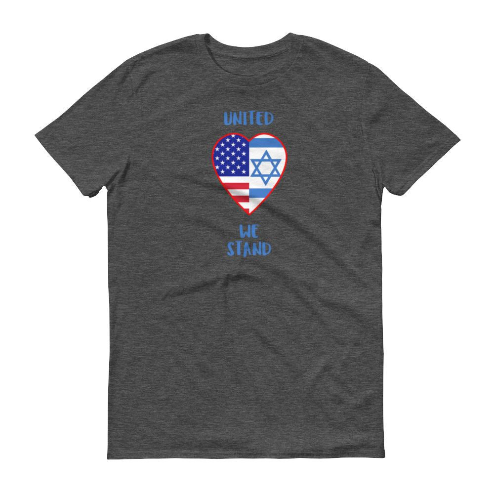 United We Stand - Israel + USA - Men's T Trini-T Ministry Heather Dark Grey S