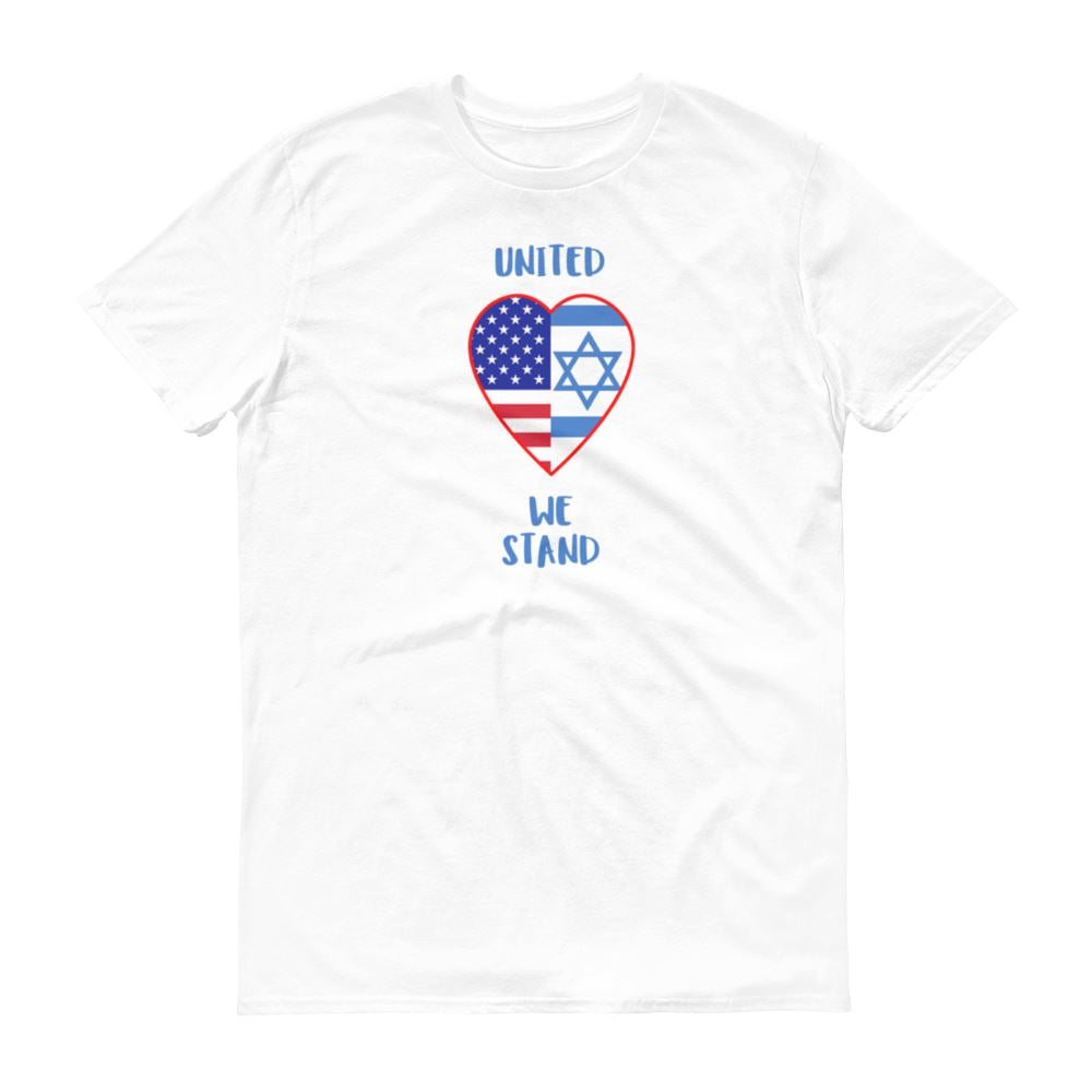 United We Stand - Israel + USA - Men's T Trini-T Ministry White S