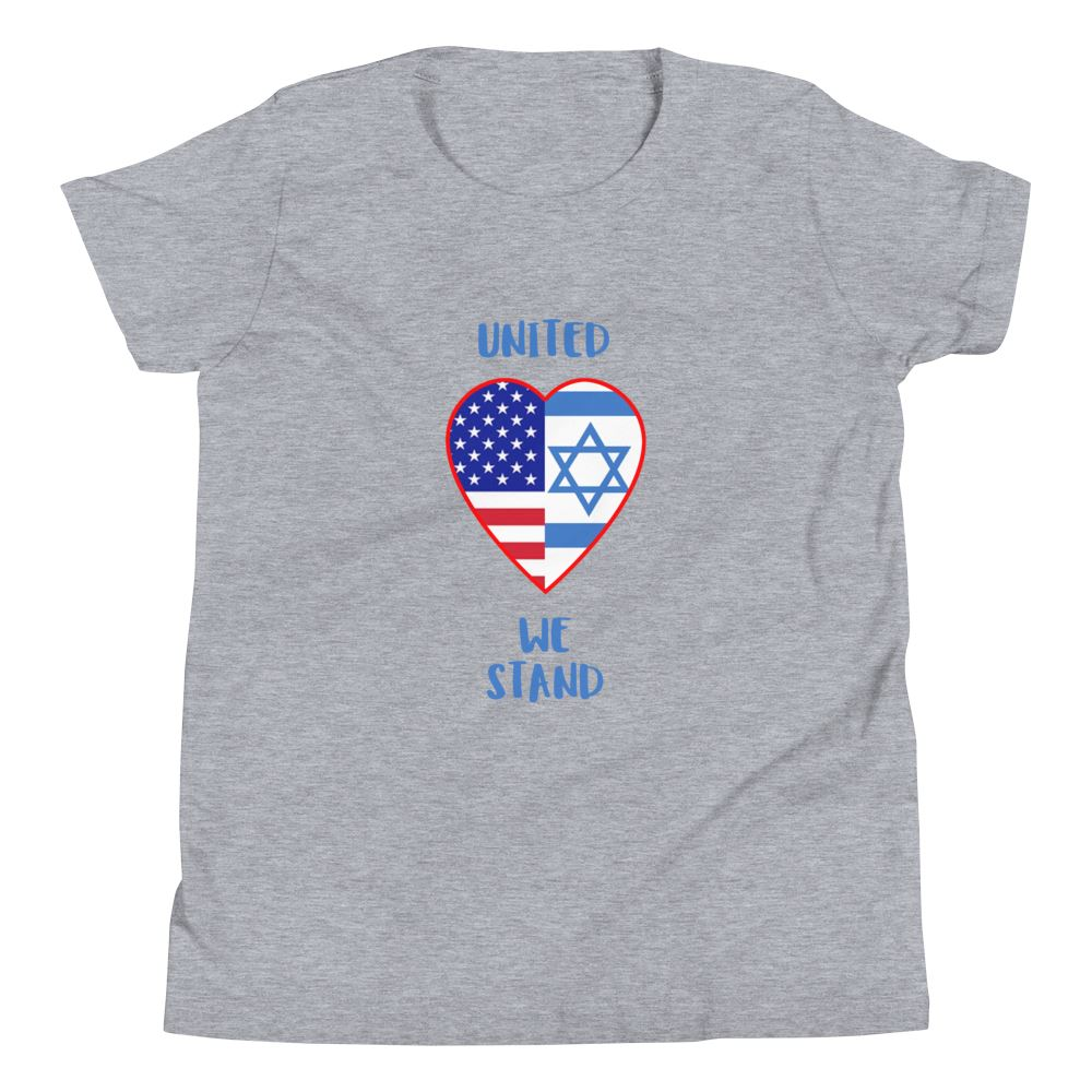United We Stand - Israel + USA - Youth US Trini-T Ministry Athletic Heather S