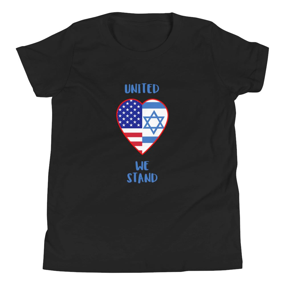 United We Stand - Israel + USA - Youth US Trini-T Ministry Black S