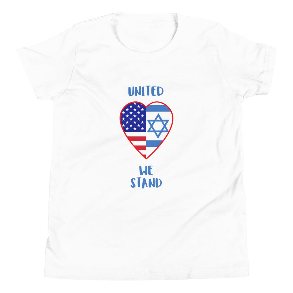 United We Stand - Israel + USA - Youth US Trini-T Ministry White S
