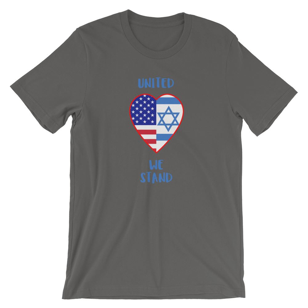 United We Stand Israel+USA - Women's T Trini-T Ministry Asphalt S