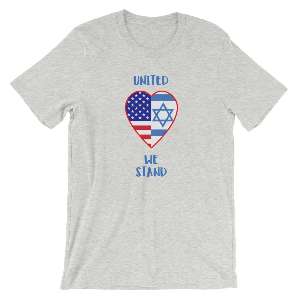 United We Stand Israel+USA - Women's T Trini-T Ministry Athletic Heather S