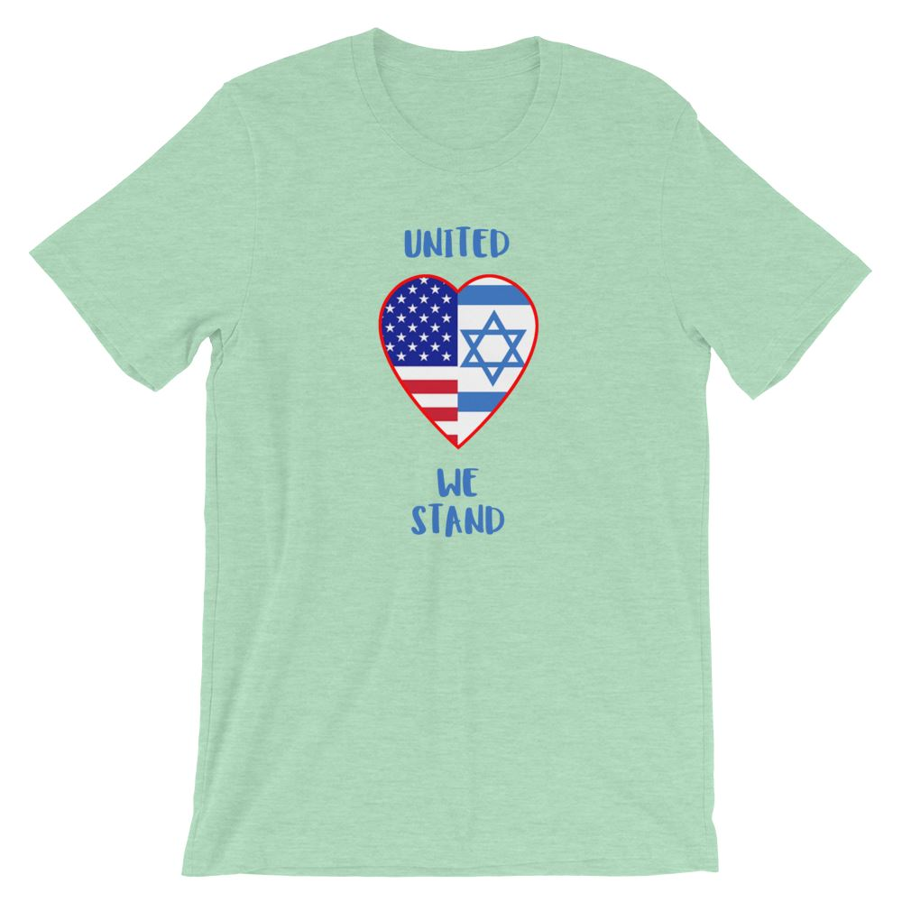 United We Stand Israel+USA - Women's T Trini-T Ministry Heather Prism Mint XS
