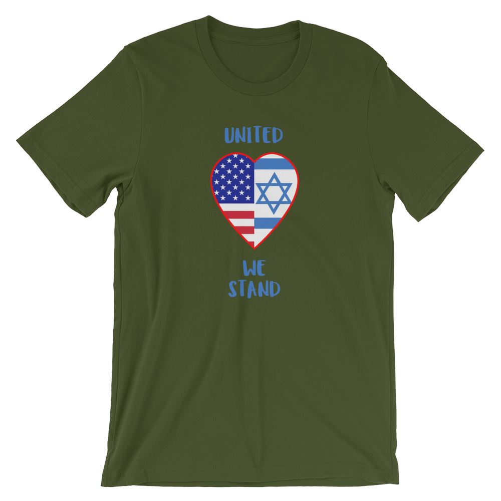 United We Stand Israel+USA - Women's T Trini-T Ministry Olive S