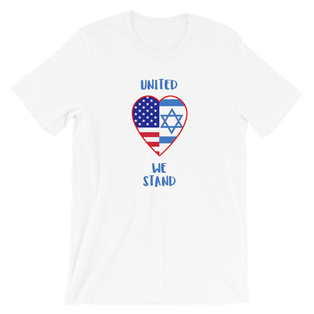 United We Stand Israel+USA - Women's T Trini-T Ministry White XS