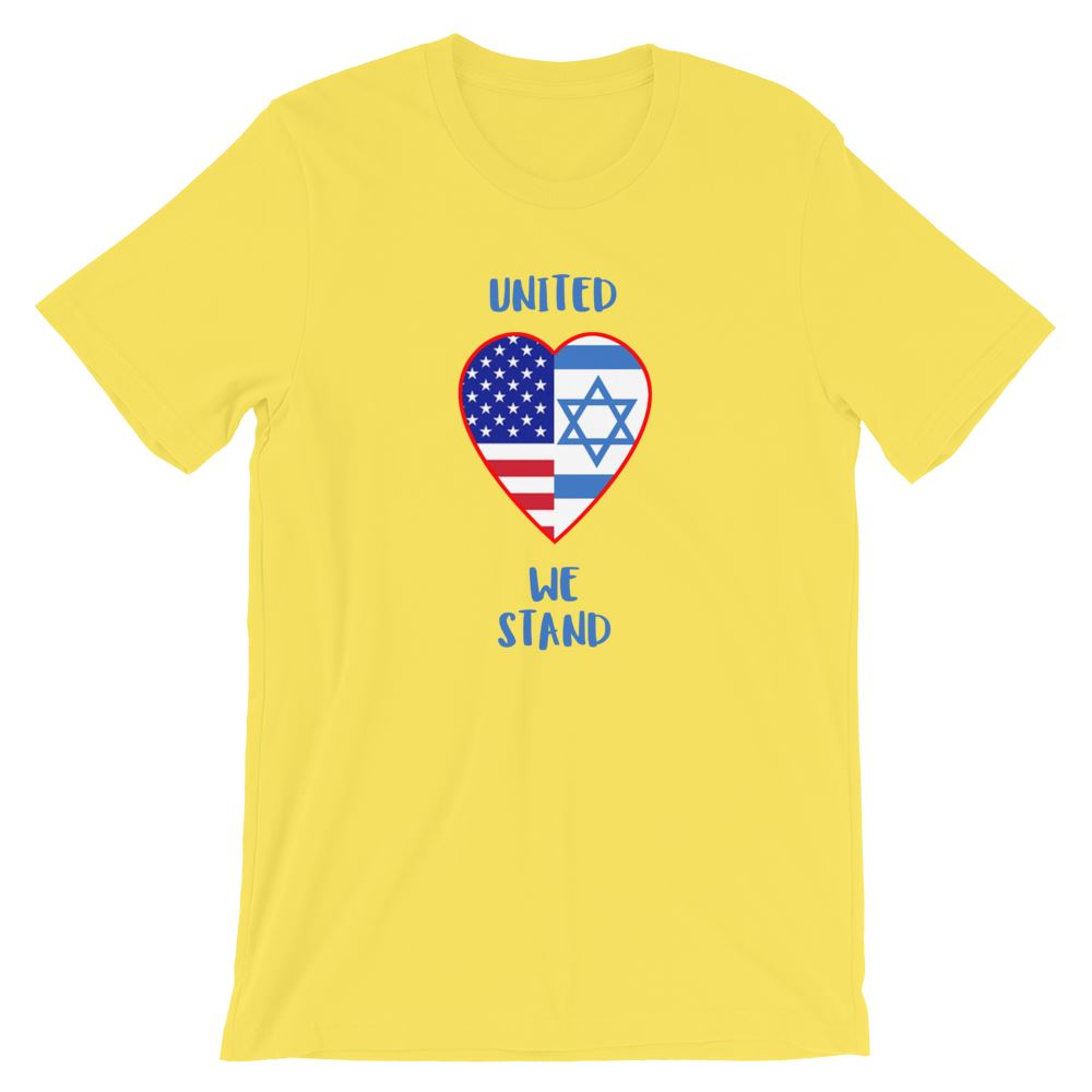 United We Stand Israel+USA - Women's T Trini-T Ministry Yellow S