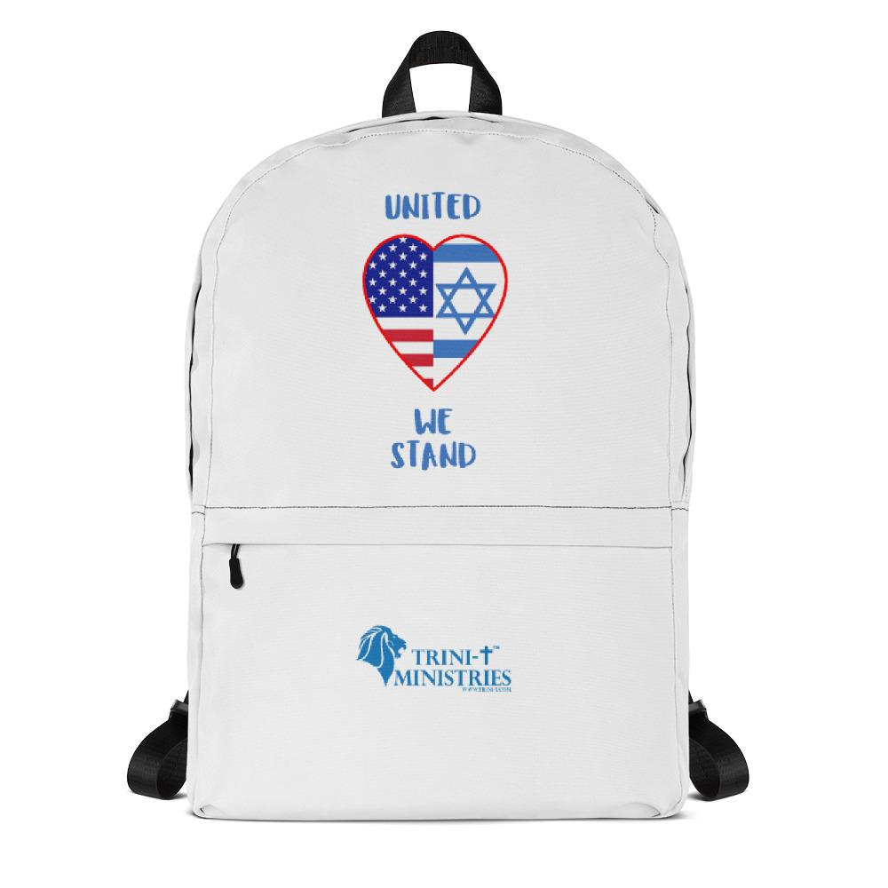 United We Stand - USA + Israel - Backpack Bags Trini-T Ministries