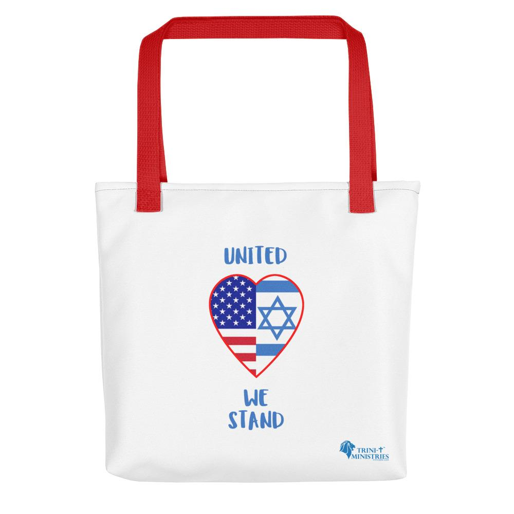 United We Stand - USA+Israel - Tote bag Bags Trini-T Ministries