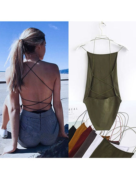 2019 New Fashion Summer Spring Sleeveless Women s Bodysuits Cotton  Playsuits Jumpsuits Rompers c932d274a