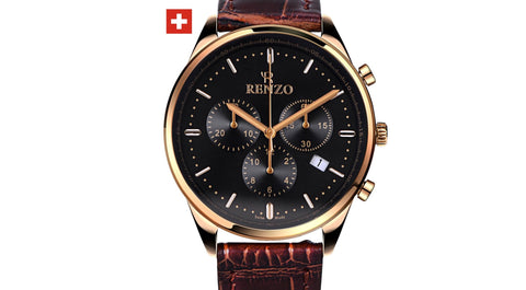 ROYALE BROWN BLACK - Renzo Watches