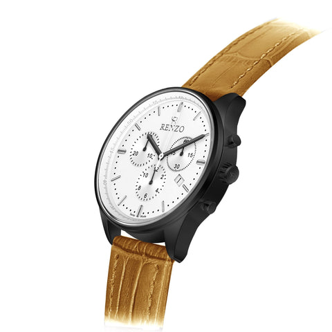 Rogue Tan White - Renzo Watches