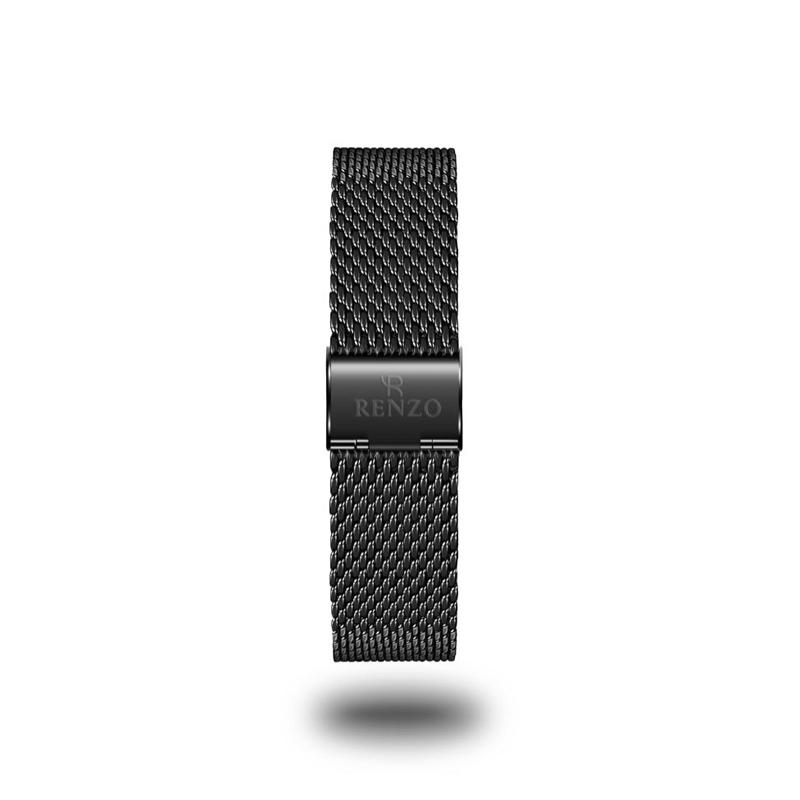Strap - Black Mesh Stainless Steel Strap