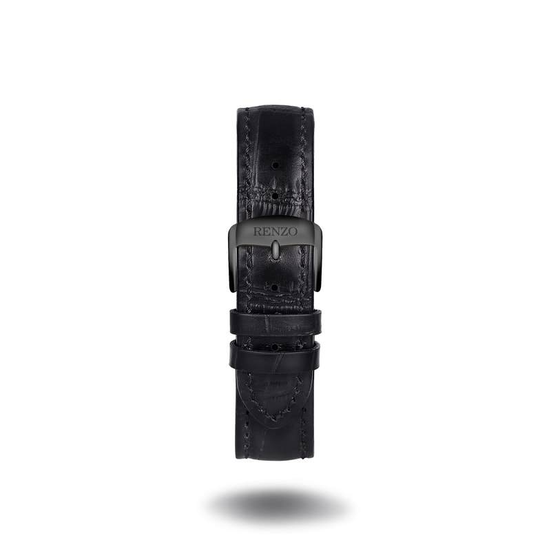 Strap - Croco All Black Strap