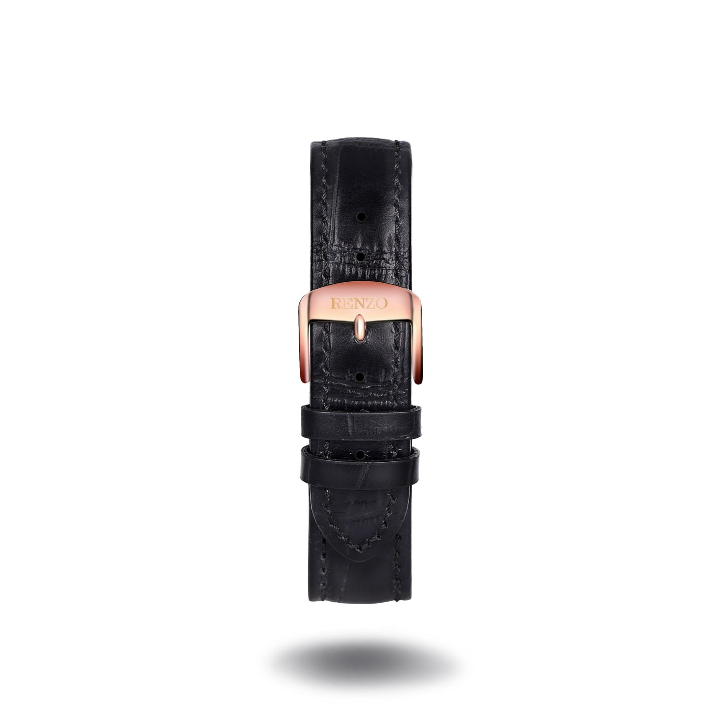 Strap - Croco Black Rose Gold Strap