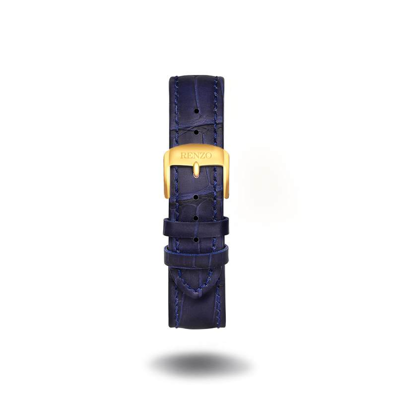 Strap - Croco Blue Gold Strap