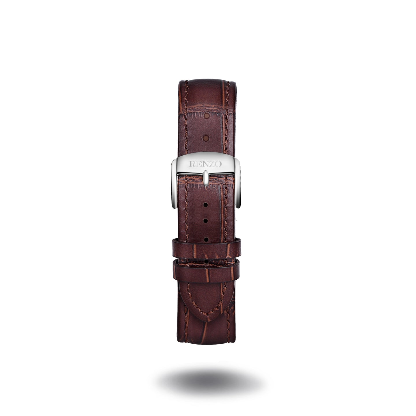 Strap - Croco Brown Silver Strap