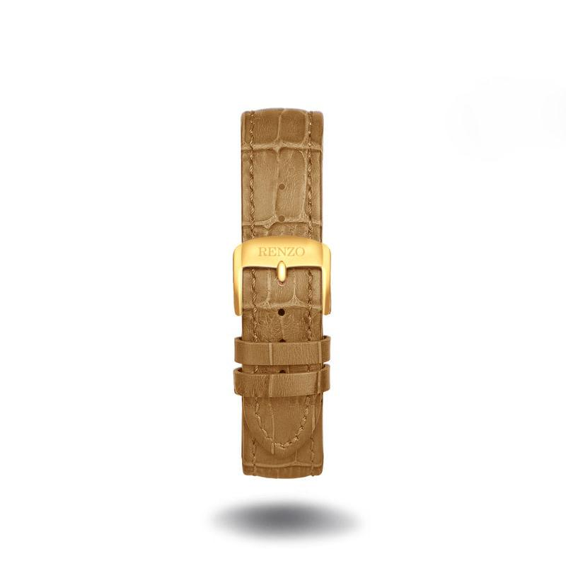 Strap - Croco Tan Gold Strap