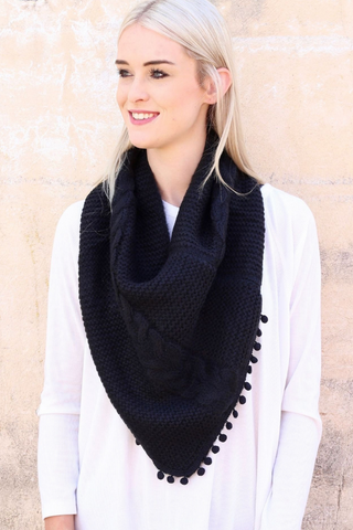 Black Loop Scarf