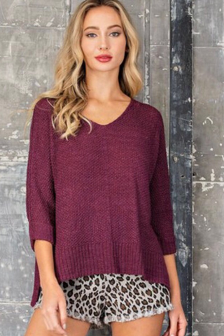 red bean knit sweater