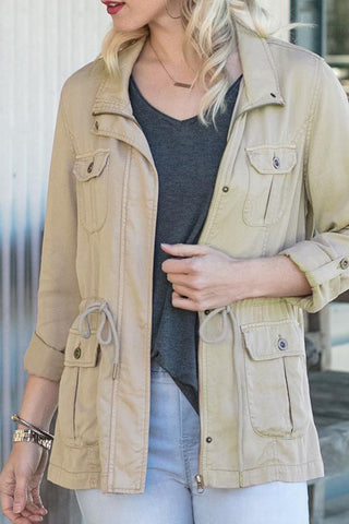 grace and lace cargo jacket khaki