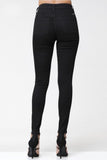 kancan high rise black skinny jean