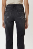 High Rise Mom Fit Black Jean
