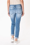 KanCan Mid Rise Distressed Girlfriend Jean back