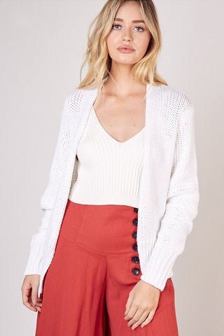 Knitted Cardigan (Off White)