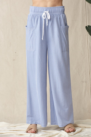 Light Denim Drawstring Pants