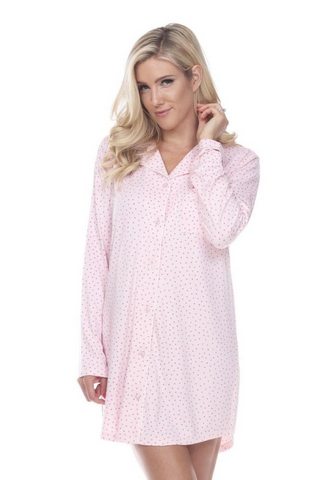 Long Sleeve Nightgown (Pink)