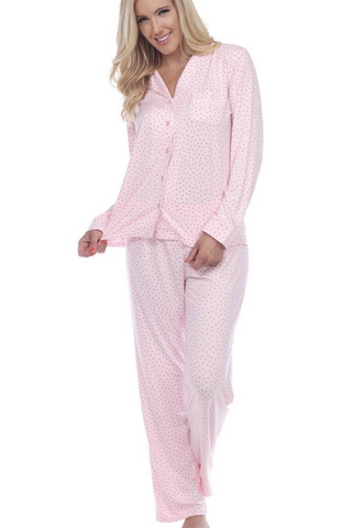 Long Sleeve Pajama Set (Pink)