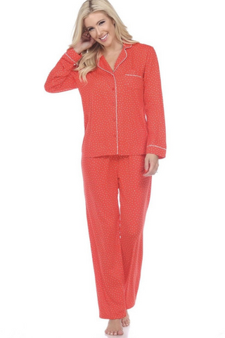 Long Sleeve Pajama Set (Red)