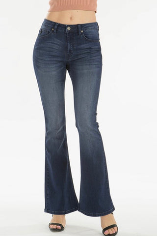 kancan mid rise flare jean