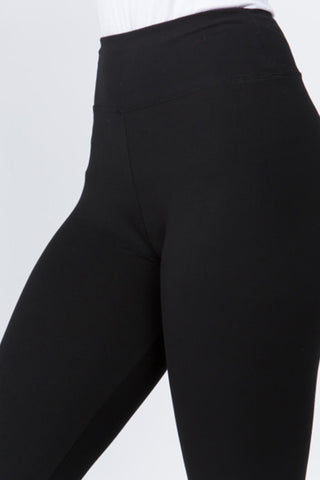 Peach Skin Leggings (Black)