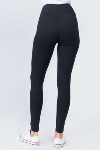 Peach Skin Leggings (Charcoal)