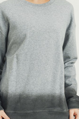 Plus, Grey Ombre Essential Cotton Terry Pullover