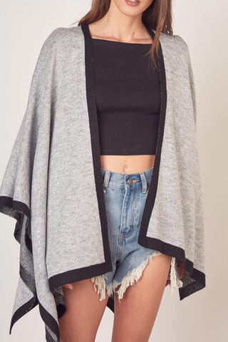 Poncho Jacket (Grey)