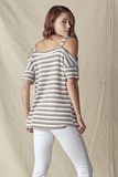 Cold Shoulder Wide Top