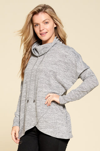 Cowl Neck Sweater (Grey)