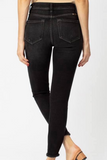 kancan dark high rise ankle skinny