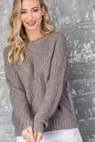 marled grey pullover sweater